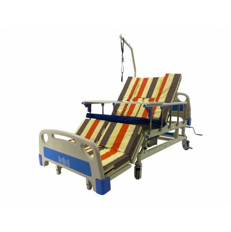 Купить Кровать с туалетом и функцией бокового переворота для тяжелобольных. Медицинская кровать. Кровать для реабилитации. Кровать для инвалида. (MED1-H03). Изображение №1