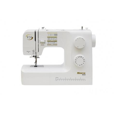 Купить Швейная машина МINERVA M320, электромех., 36 швейные операции, белый/золотой (M320). Изображение №1