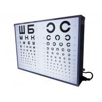 Осветитель таблиц для проверки зрения, аппарат Ротта медицинский АР-2М