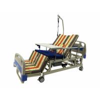 Кровать с туалетом и функцией бокового переворота для тяжелобольных. Медицинская Электро Кровать. Функциональная медицинская кровать. Для реабилитации инвалида.