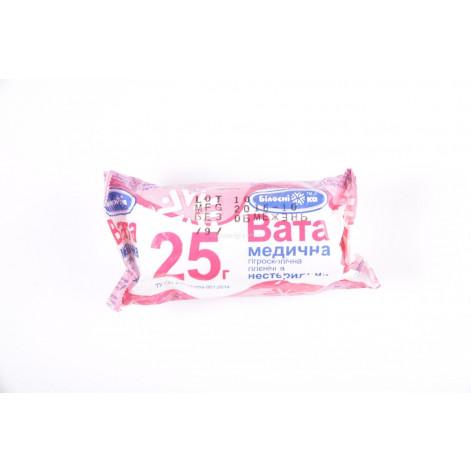 Купить Вата 25гр ролик стерильный Белоснежка (70). Изображение №1
