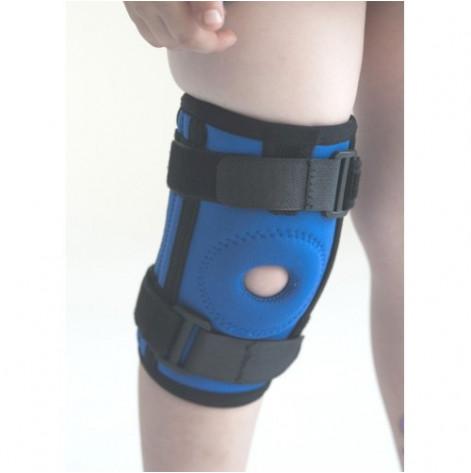 Купить Бандаж (ортез) на колено неопреновый, с спиральными ребрами жесткости kids (синий) р.2 (4035.2Ксин). Изображение №1