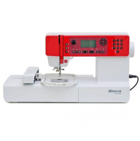 Купить Швейно-вышивальная машина MINERVA MC450ER, швейно-вышив., 404 швейных операций, белый/красный (M-MC450ER). Изображение №1
