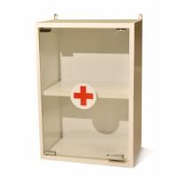 Аптечка медицинская навесная со стеклянной дверкой ШМн