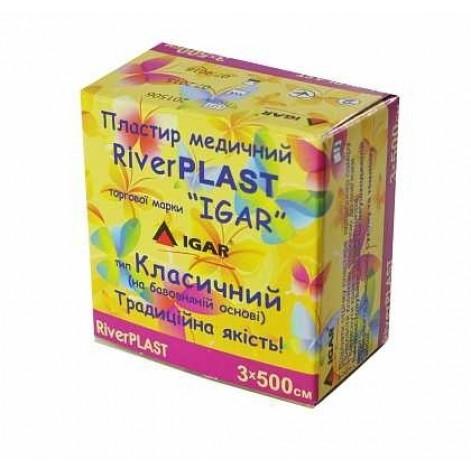 Купить Пластырь катушка   3*500см.River Plast картон (2849). Изображение №1