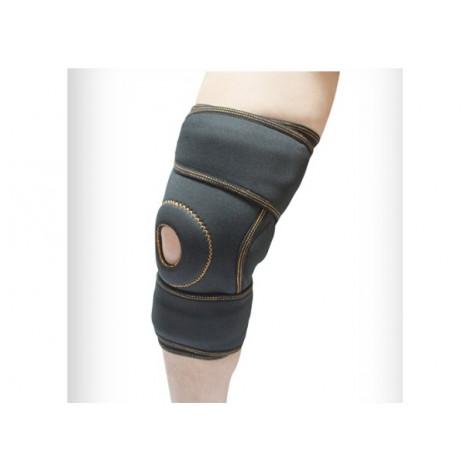 Купить Бандаж (ортез) коленного сустава неопреновый с широкой обволакивающей частью (сине-черный) р.3 (4053.3син/чо). Изображение №1