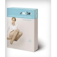 Гольфы женские компрессионные с открытым носком лечебные (черные) 1 компрессия размер 1