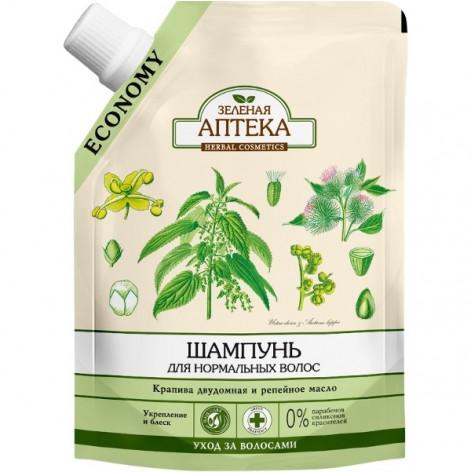 Купить Зеленая аптека шампунь (кропива) 200 мл ПАКЕТ (60690). Изображение №1