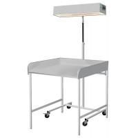 Облучатель для верхнего обогрева младенца с пеленальным столиком лво-02 медицинский