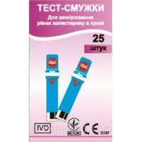 Тест полоски EasyTouch для измерения уровня холестерина в крови (25 шт)