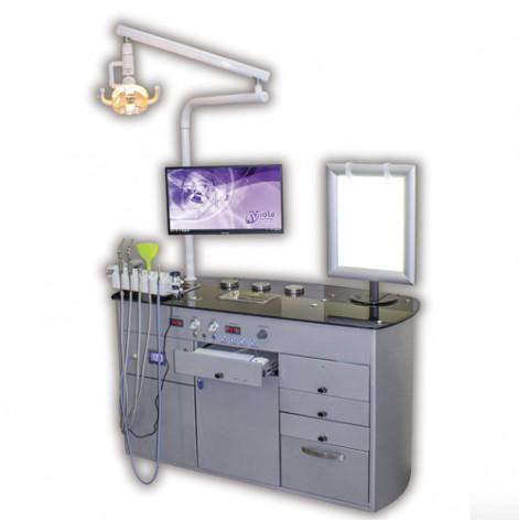 Купить Установка многофункциональная отолариногологическая ОЛК-1 (в комплекте с отоларингологическим креслом КрО-1) (ОЛК-1 + кресло). Изображение №1