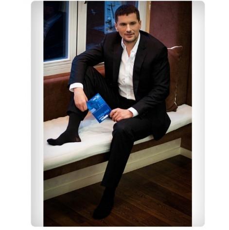 Купить Гольфы мужские компрессионные с открытым носком (бежевые) 2 компрессия р2 (5092.2б). Изображение №1