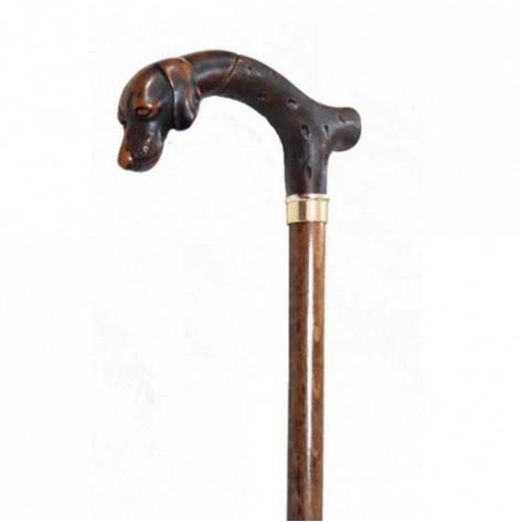 Купить Трость для пожилых, рукоятка собака, бук (543). Изображение №1
