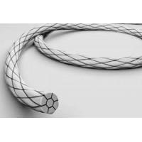 Нейлон полиамид плетеный USP4/0, игла 20 мм, 1/2 круга, колющая,  нить: 75 см