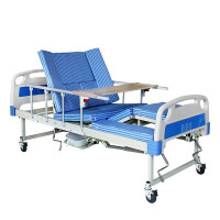 Медицинская кровать с туалетом и функцией бокового переворота для тяжелобольных E30. Функциональная кровать. Кровать для реабилитации. Кровать для инвалида.