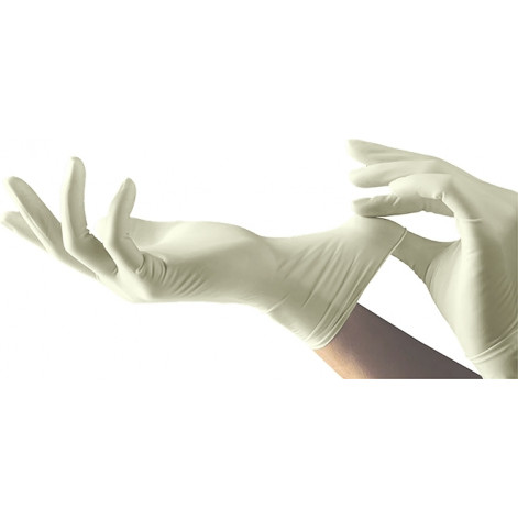 Купить Рукавички хірургічні латексні «MEDICARE» (нестерильні, з пудрою, текстуровані, з валиком на манжеті) розмір 7,0 (3899). Изображение №1