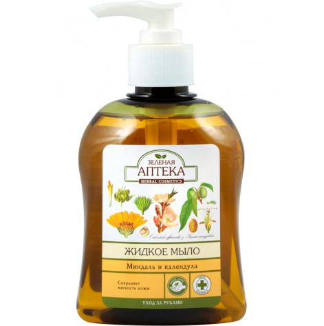 Купить Зеленая аптека мыло жидкое миндаль и календула 300мл. (80978). Изображение №1