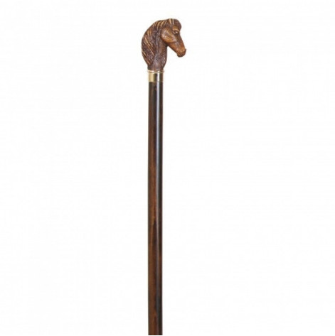 Купить Трость для пожилых Artes, древесина бука, рукоять в виде головы лошади (528). Изображение №1