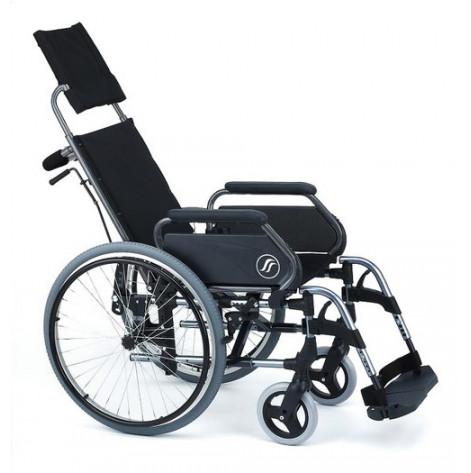 Купить Инвалидная коляска очень широкая Breezy Облегченная  c подголовником и регулируемой спинкой (52-70-BRE-SKL). Изображение №1