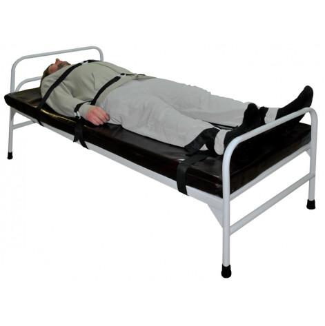 Купить Кровать для психонервнобольных с ремнями медицинская (876). Изображение №1