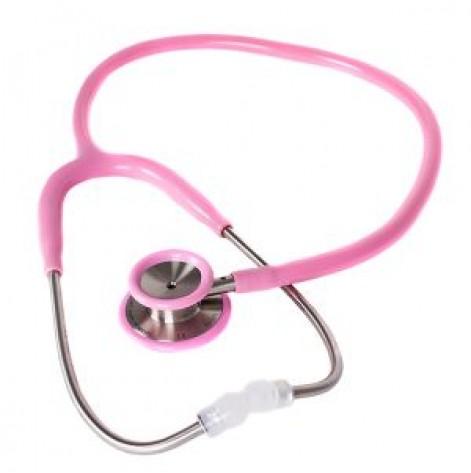 Купить Стетоскоп для взрослых MDF 777 01 стальной с двойной головкой Розовый (777-01). Изображение №1