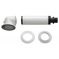 Коаксиальный горизонтальный комплект Bosch AZB 916: отвод 90° + удлинитель 990 - 1200 мм, диаметр 60/100 мм