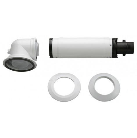 Купить Коаксиальный горизонтальный комплект Bosch AZB 916: отвод 90° + удлинитель 990 - 1200 мм, диаметр 60/100 мм (7736995011). Изображение №1