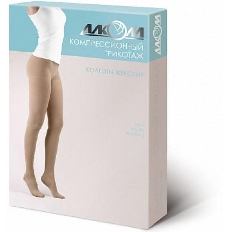 Купить Колготы женские компрессионные с открытым носком (бежевые) 2 компрессия UNI р 3 (7082UNI.3б). Изображение №1