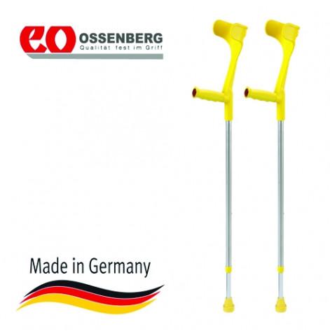 Купить 220 DKGe Костыль локтевой, твердая рукоятка Ergo, цвет желтый (220 DKGe). Изображение №1