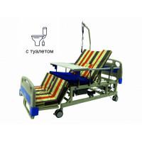 Кровать с туалетом и функцией бокового переворота для тяжелобольных. Медицинская Электро Кровать. Функциональная медицинская кровать. Для реабилитации инвалида
