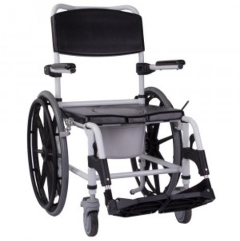 Купить Инвалидная коляска  для душу с туалетом Swinger Ортопедическая подушка для коляски в ПОДАРОК. (OSD-2004101). Изображение №1