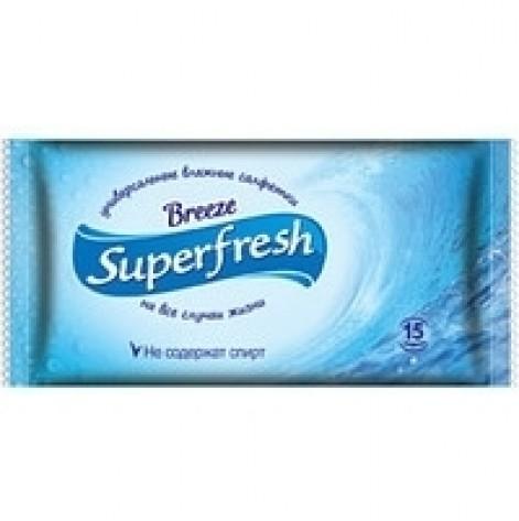 Купить Салфетки влажные Super Fresh антибактериальные №15 (79888). Изображение №1