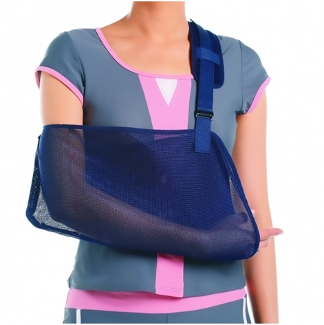 Купить AS-02 Бандаж для поддержки руки, синий, L (AS-02-L). Изображение №1