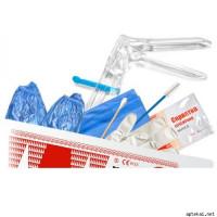 Набор гинекологический  VM №12, перчатки смотровые М, салфетка, бахилы
