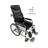 Инвалидная коляска c туалетом (санитарным оснащением) MED1-L07