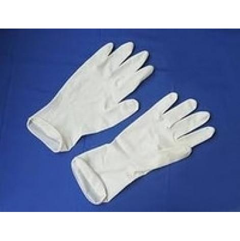 Купить Перчатки cмотровые латексные «MEDICARE» (нестерильные, с высокой степенью защиты, текстурированные, без пудры) размер XS (4077). Изображение №1