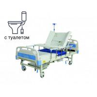 Медицинская кровать с туалетом и функцией бокового переворота для тяжелобольных MED1-H01-2. Функциональная кровать. Кровать для реабилитации. Кровать для инвали