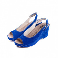 505 Женские кожаные тапочки VESUVIO BLUE 39р.