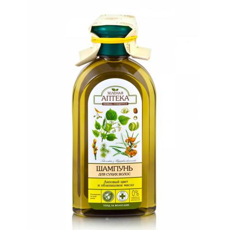 Купить Зеленая аптека шампунь (Липа + облепиха) 350 мл (81105). Изображение №1
