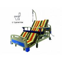 Кровать с туалетом и функцией бокового переворота для тяжелобольных. Медицинская кровать. Кровать для реабилитации. Кровать для инвалида (видеообзор)