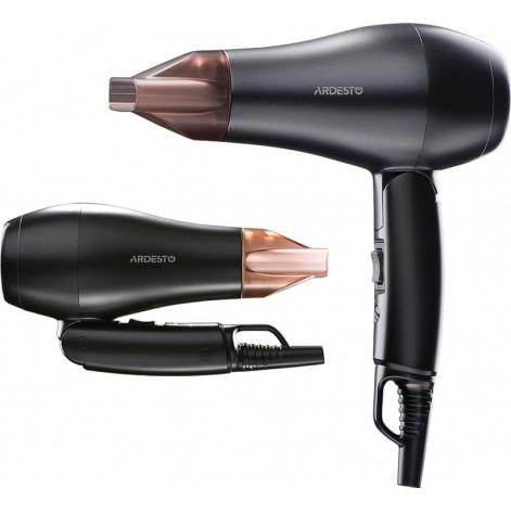 Купить Фен Ardesto HD-Y120T/ дорожный/1200Вт/складная ручка/2 скорости/ 2 темп.режима/черный (HD-Y120T). Изображение №1