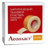Лейкопластырь Леопласт белый 2,5*500 без катушки