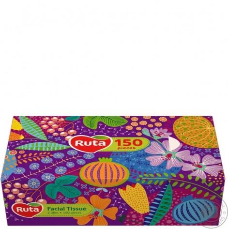 Купить салфетки Рута (100 + 50шт) косметические в коробочках (67243). Изображение №1