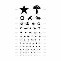 Таблица для проверки зрения у детей, таблица Орловой, плакат для проверки зрения медицинский