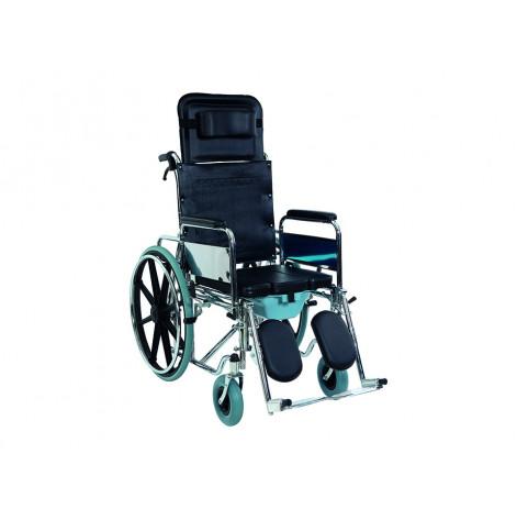Купить Инвалидная коляска многофункциональная с санитарным оснащением Golfi-4 Ортопедическая подушка для коляски в ПОДАРОК. (Golfi-4). Изображение №1