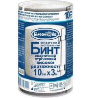 Бинт медицинский эластичный  высокой растяжимости, стерильный  3м*10см Белоснежка