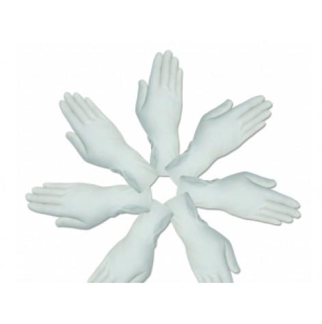 Купить Перчатки хирургические нитриловые «MEDICARE» (нестерильные, без пудры, внутренняя поверхность покрыта полимерами,   одеваются на мокрые руки, текстурированные)  (5969). Изображение №1