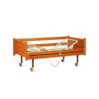 Кровать медицинская с электромотором на колесах, с перилами (4 секции) (в комплектe: матрас)